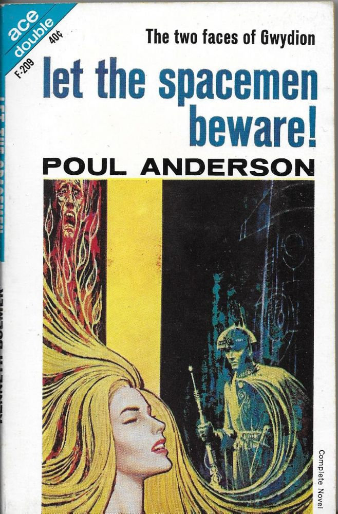 Let the Spacemen Beware! / The Wizard of Starship Poseidon. Poul / Bulmer Anderson, Kenneth.
