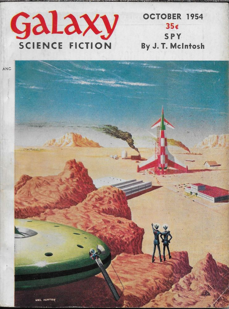 """""""A World of Talent"""" in Galaxy Magazine, October 1954. Volume 9, Number 1. Gold. H. L., Philip K. Dick."""