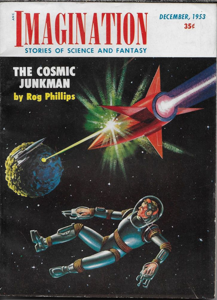 """""""Project: Earth"""" in Imagination: Stories of Science and Fantasy, December 1953. Volume 4, Number 11. William L. Hamling, Philip K. Dick."""