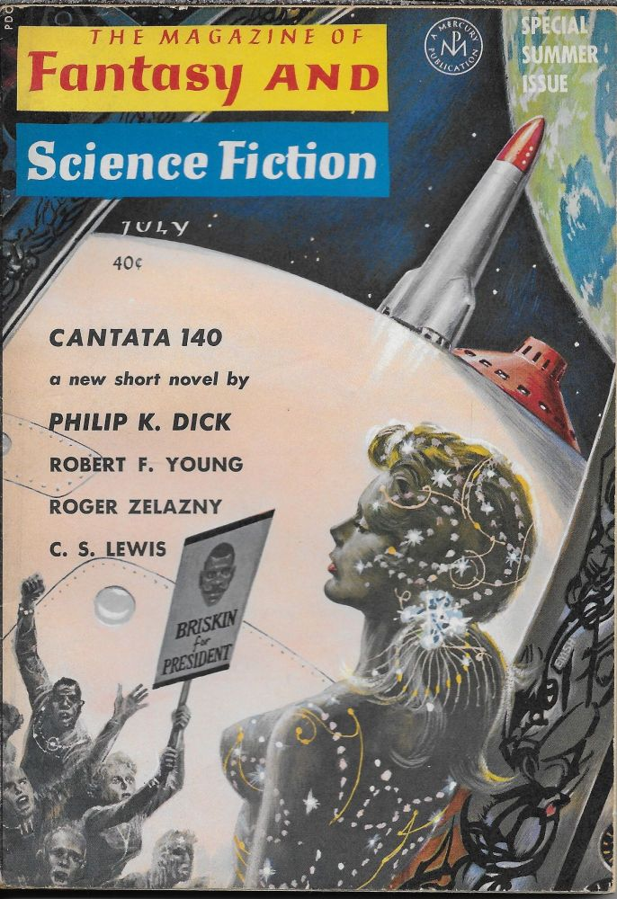 """""""Cantata 140"""" in The Magazine of Fantasy and Science Fiction. July 1964. Edward L. Ferman, Philip K. Dick."""