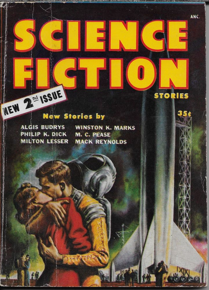 """The Turning Wheel"" in Science Fiction Stories. Second Issue 1954. Robert W. Lowndes, Philip K. Dick."