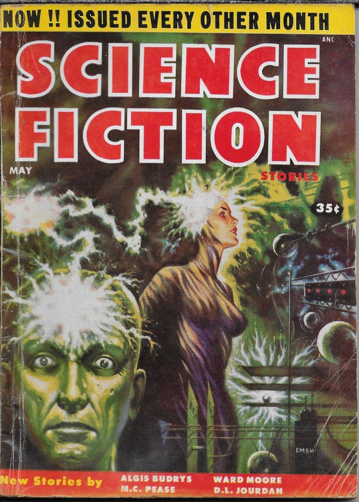"""""""Last Stand"""" in Science Fiction Stories Volume 5, Number 6. May, 1955. Robert W. Lowndes, Algis Budrys."""