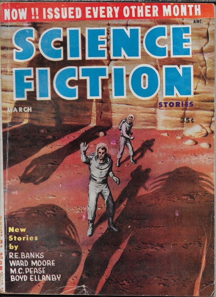 """""""The Pattern"""" in Science Fiction Stories Volume 5, Number 5. March, 1955. Robert W. Lowndes, Boyd Ellanby."""