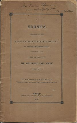 A Sermon, Addressed to the Second Congregational Society in Greenwich, Connecticut, September 1,...