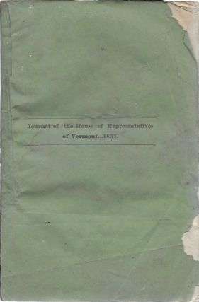The Journal of the House of Representatives of the State of Vermont, October Session, 1837