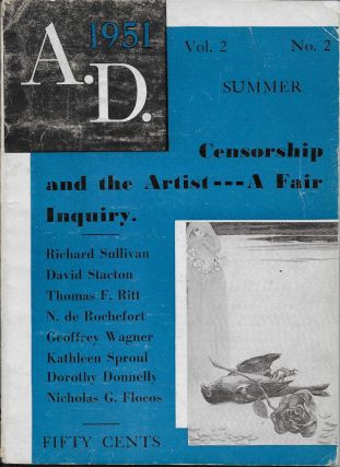 A.D. Magazine, Second Quarter. Summer. Vol 2, No 2. A. M. Sullivan