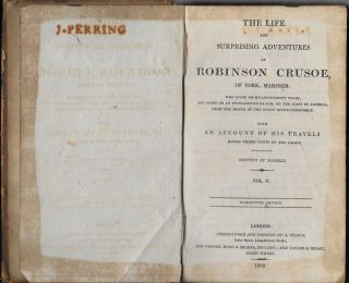 The Life and Strange Surprizing Adventures of Robinson Crusoe, of York, Mariner [vol II only]