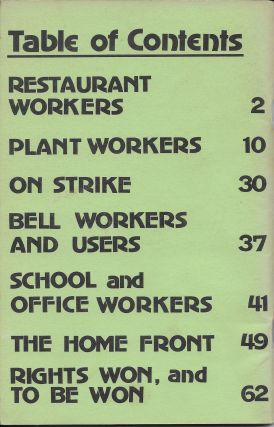 Working women: Our Stories and Struggles. Volume 2, July 1973.