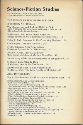 Science-Fiction Studies #5, Volume 2, Part 1: March 1975: The Science Fiction of Phililp K....