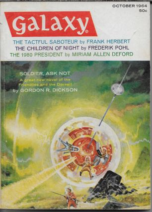 """Precious Artifact"" in Galaxy Magazine, October 1964. Volume 23, Number 1. Frederik Pohl, Philip..."