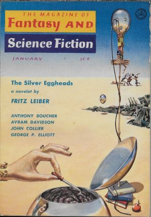 """Explorers We"" in The Magazine of Fantasy and Science Fiction. January 1959. Robert P. Mills,..."