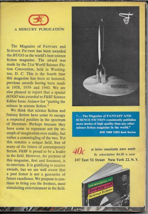 """""""Cantata 140"""" in The Magazine of Fantasy and Science Fiction. July 1964"""