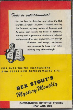 Rex Stout's Mystery Monthly #6 October 1946